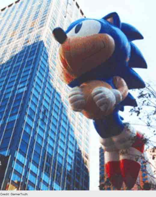Sonic the Hedgehog Crashes Into Columbus Circle