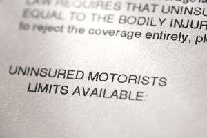 auto insurance document covering uninsured motorist coverage