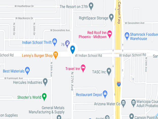 google map image of indian school road and 27th avenue