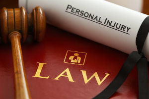 personal injury claim and gavel