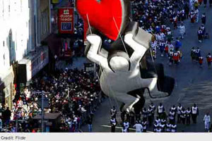 Keith Haring Inspired Balloon Crashes Into Nbc Booth