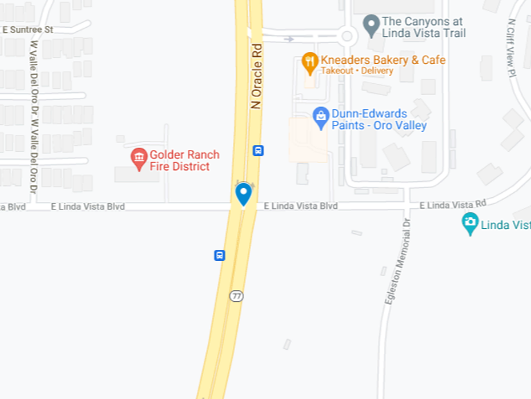Oro Valley crash map