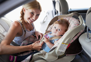 baby in car seat edit